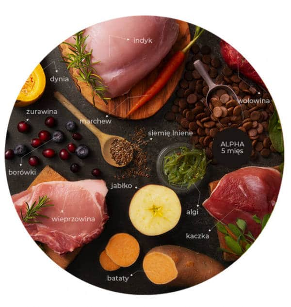 LINIA ALPHA 5 mięs - kaczka | wieprzowina | indyk | wołowina | wołowina angus