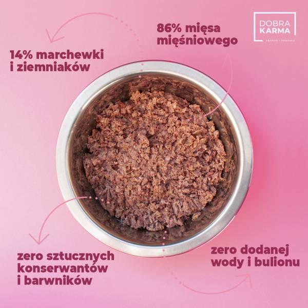 Dzik 86% | ziemniaki | marchew 850 g
