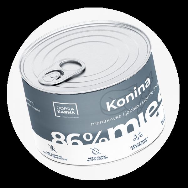 Konina 86% | marchew | jabłko 410 g